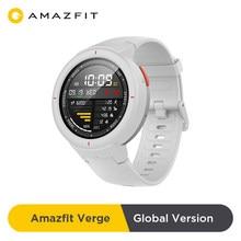 Amazfit-reloj inteligente Verge versión Global, con Bluetooth, GPS, música, control del ritmo cardíaco, mensajes, seguimiento de actividad física