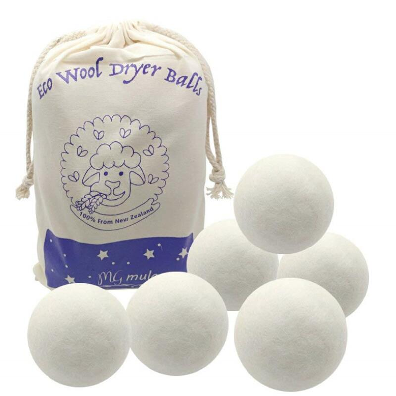 2.75inch 7cm Reusable Natural Fabric Softener Wool Dryer Balls To Static Reduces Helps Dry Clothes LX8702