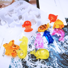 DIY Jewelry Marine Style Crystal UV Epoxy Mold Creative Starfish Penguin Shape Collection Silicone Molds