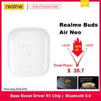 Realme Buds Air Neo-auriculares Tws inalámbricos por Bluetooth 5,0 Ture, cascos deportivos con Control táctil y controlador de bajos, Chip R1