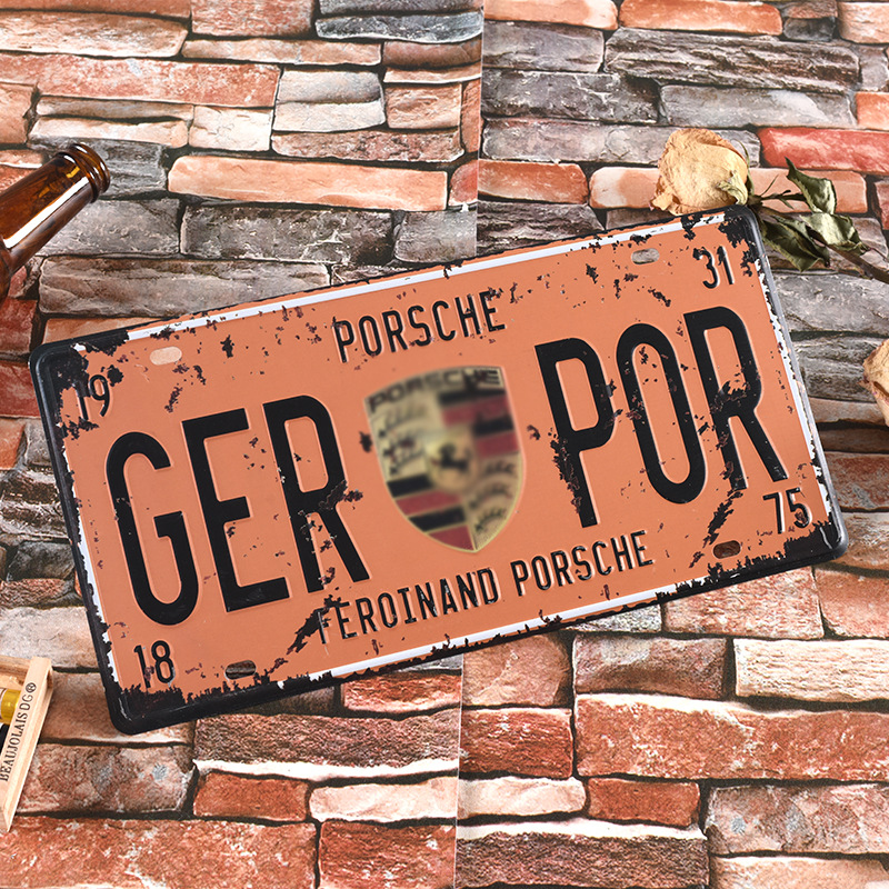 Vintage Car License Plate Frame Car Plate Frame Famous Car Algam Licence Plate Car Plates For Porsche License Plate Cover