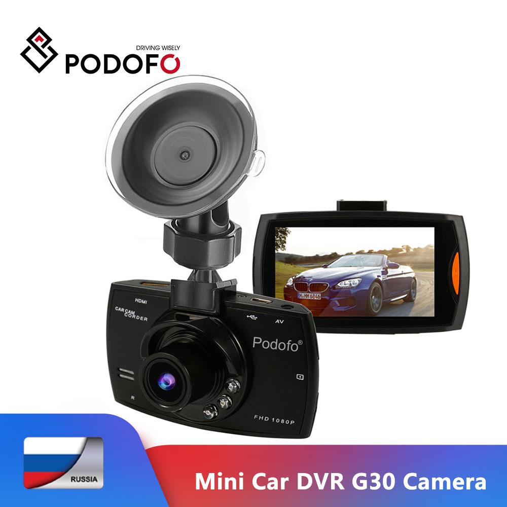 Podofo Mini Car DVR G30 Full HD 1080P Camera With Motion Detection Night Vision G-Sensor Dashcam Registrar Dash Cams DVRs