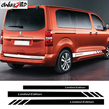 For Peugeot Traveller Car Door Side Skirt Stripes DIY Vinyl Stickers Decal Auto Body Accessories Stickers Mountain Sport Styling
