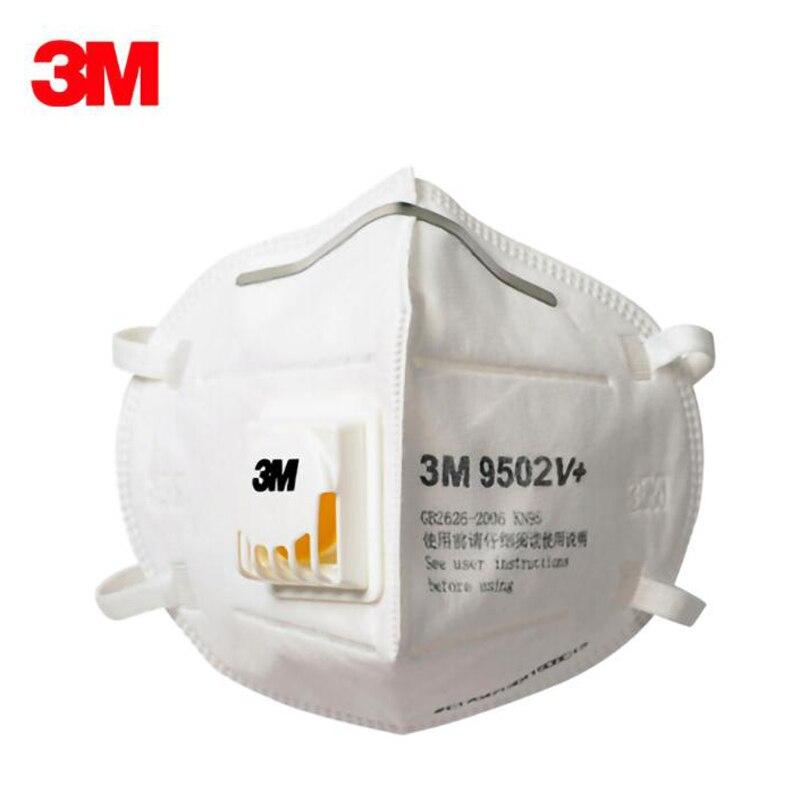 3M 9502V Mask DHL Free Safety Protective FFP2 FFP3 N95 Mask Anti-PM 2.5 Sanitary Work Respirator Filter Mask Anti Virus PM2.5