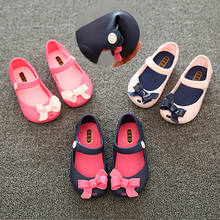 Pudcoco Children Girl Summer Shoes Infant Baby Girls Kids Princess Sandals Shoes Non-Slip Plastic Bow Buckle Jelly Shoes 1-6Y(China)