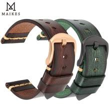 Bracelet de montre en cuir fait main, tannage végétal Vintage, pour OMEGA Fossil CITIZEN SEIKO HUAWEI