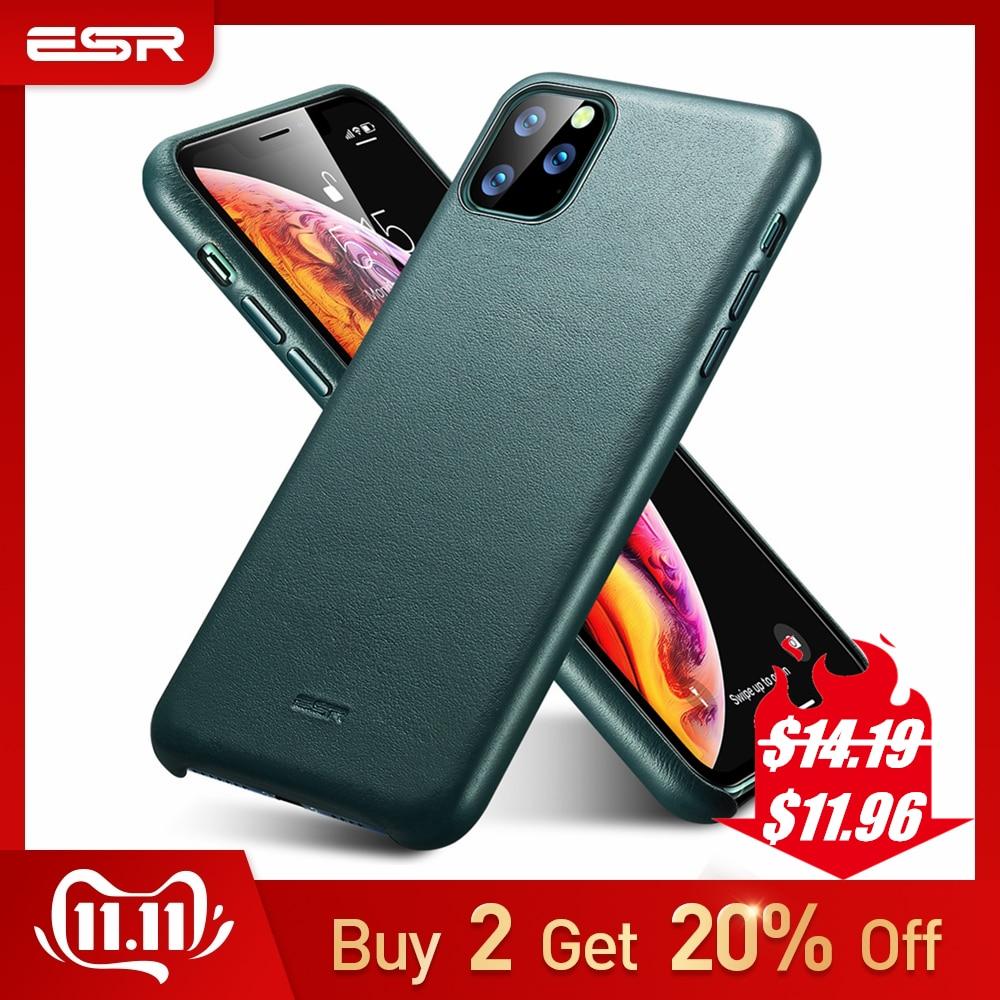 ESR Case for iPhone 11 Pro Max Leather Cover Brand Black Green Genuine Protective 2019 11pro