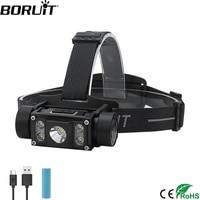 BORUiT B50 LED Headlamp XM L2+4*XP G2 Max.6000LM Headlight 21700/18650 TYPE C Rechargeable Head Torch Camping Hunting Flashlight