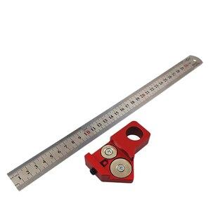 Image 5 - 45 Degree Angle Scribe Carpenter Gauge Universal Steel Ruler Locator Steel Ruler Adjustable Fixed Block Woodworking DIY Tool