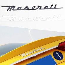 Автомобильные ABS-буквы, хромированные наклейки для Maserati granтуризма, Quattroporte ghiдоступ, логотип Levante, Эмблема для заднего багажника автомобиля, з...