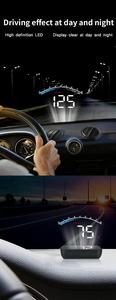 Image 4 - GEYIREN HUD M6s head up display Overspeed Warning Windshield Projector on board OBD scanner With Lens Hood Universal Auto HUD
