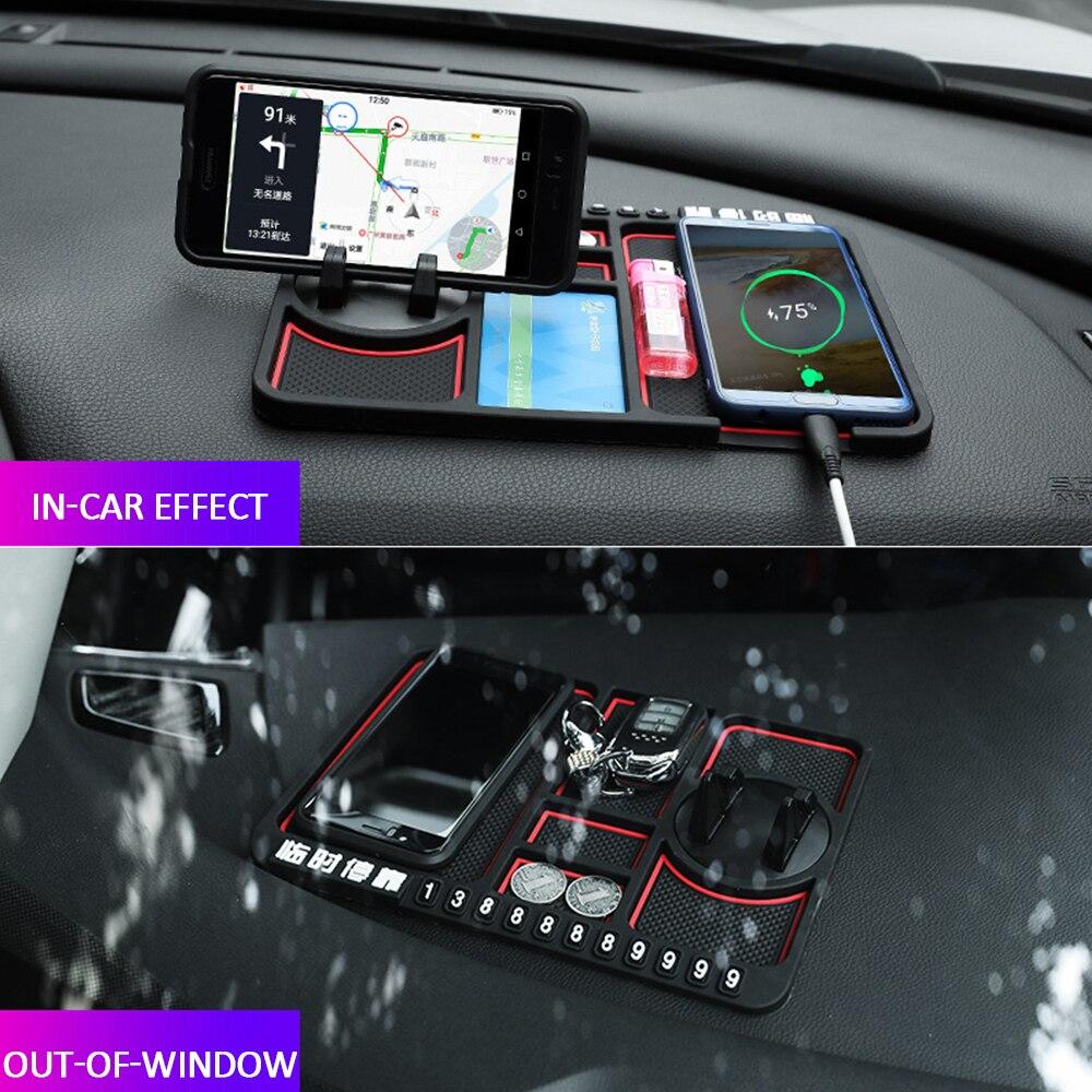 Interior Car Red edge Mobile Phone Mat Anti-slip Mat for Audi