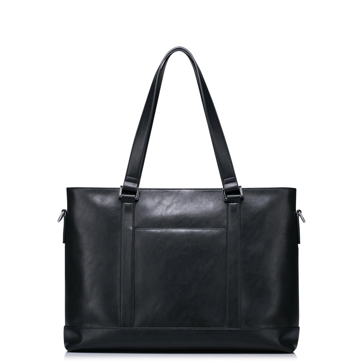 Винтажный Мужской портфель из натуральной кожи, сумка мессенджер для ноутбука, мужские многофункциональные сумки на плечо, вместительные д... - 2