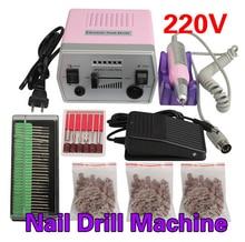 цена на 35W 35000RPM Electric Nail Drill Machine Manicure Pedicure Files Tools Kit Nail Polisher Grinding Glazing Machine For Gel Polish