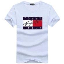 2021 hommes T-shirt Hauts Exemples D'été Mancherons Courtes TOMMY JEANS T-shirts Lettre Imprimé O COU Lâche Streetwear Vêtements S-5XL