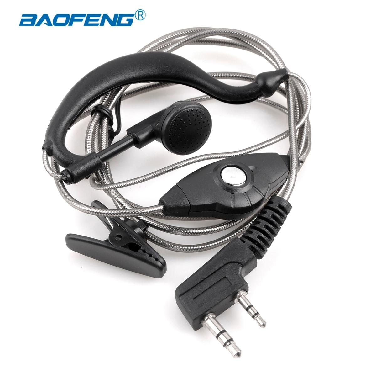 Talkie-walkie Baofeng écouteur uv 5r écouteurs PTT avec micro dans l'oreille crochet casque k port radio bidirectionnelle casque uv-5r bf-888s
