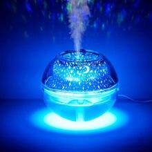 500ml Ultraschall-luftbefeuchter Bunte Led Projektor Licht Usb Ätherisches Öl Diffusor Purifier Aroma Anion Nebel Maker Diffusor