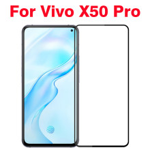 3D Curved Tempered Glass For Vivo X50 Pro 5G Full Cover 9H film Explosion-proof Screen Protector For Vivo X50 Pro 5G(China)