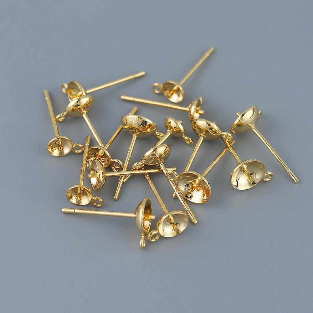 Купить 2 шт серьги гвоздики с подвесным кольцом