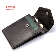 Fashion RFID Wallet Women Men Mini Ultrathin Leather