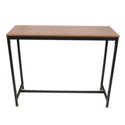 حانة البارات طاولة خشبية خمر مستطيلة الجدول مع الإطار المعدني مكتب المنزل-E2S