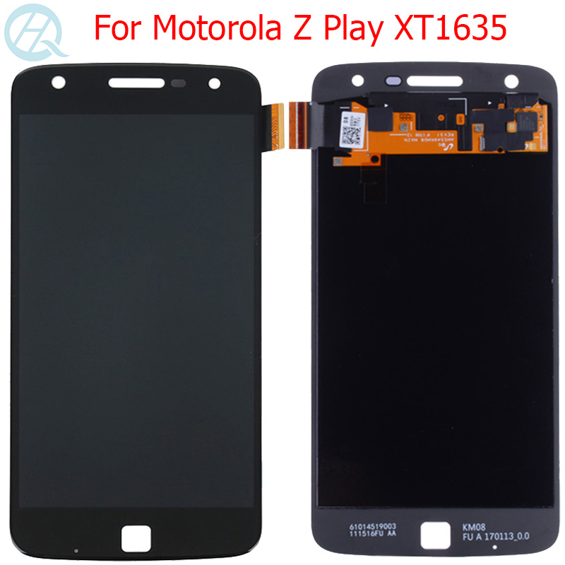 Original <font><b>XT1635</b></font> AMOLED For Motorola Z Play LCD Display 5.5