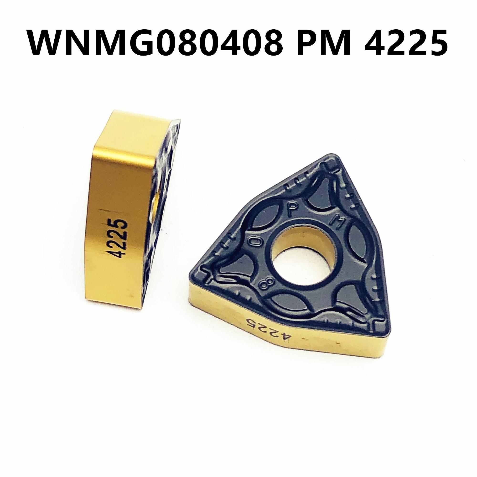 10PCS WNMG080408 PM 4225 Carbide Insert High Quality Cylindrical Lathe Tool CNC Lathe Tool Tokarnyy WNMG 080408 Pm4225