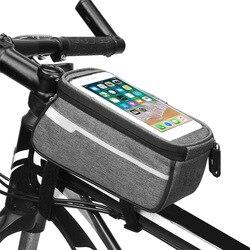 HOT 6 Cal MTB Road torby rowerowe ekran dotykowy przeciwdeszczowe nylonowe torby rowerowe odblaskowe przednie górne Tube Bike etui na telefony komórkowe