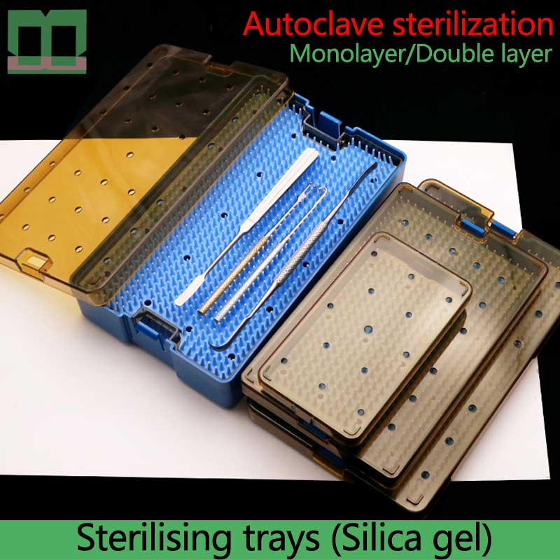 Sterilising Trays Autoclave Sterilization Double Layer Silica Gel Monolayer Surgical Operating Instrument Medical Sterilizer