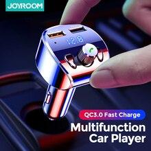 Joyroom – Kit de chargeur de voiture rapide, modulateur transmetteur FM, Bluetooth 5.0, mains libres, lecteur Audio MP3, avec adaptateur double USB QC3.0
