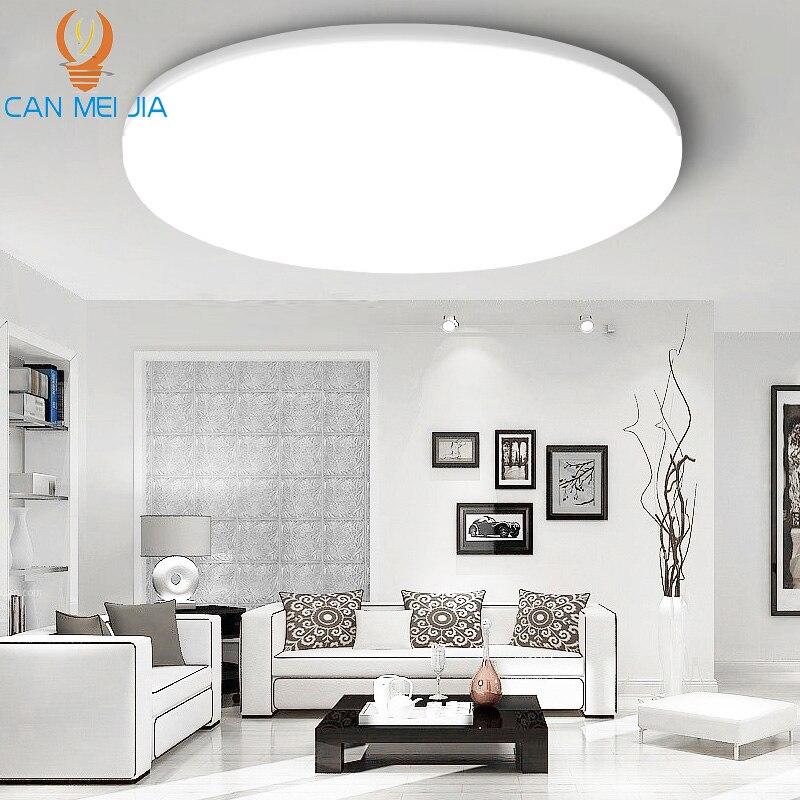 LED plafonnier lampe 220V 15W 30W 20W 50W rond moderne plafonniers pour salon cuisine montage en Surface luminaire