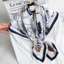 Kobiety kwadratowy szalik jedwabny 88*88cm marka 2020 100% czysta jedwabna apaszka Wrap dla pań chustka Hangzhou naturalny jedwab kwadratowe chustki
