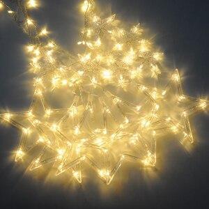Image 2 - 2020 Đèn LED Mới Dây Đèn Pentagram Ngôi Sao Màn Đèn Cổ Tích Đám Cưới Sinh Nhật Giáng Sinh Chiếu Sáng Trong Nhà Đèn Trang Trí