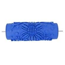 15 см настенные украшения, цветок шаблон Empaistic живопись ролик для украшения машины DIY синий