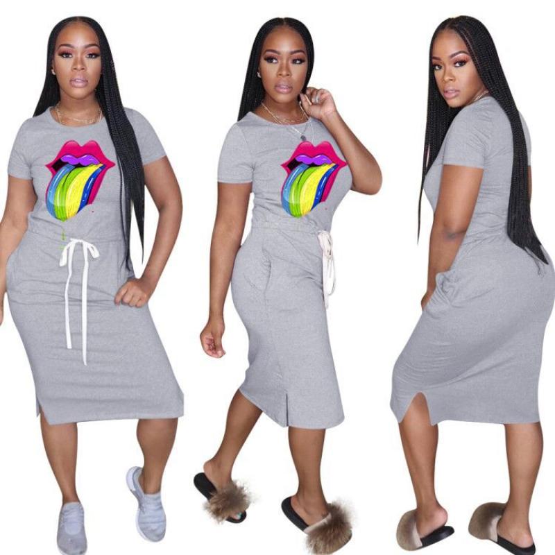 Повседневное женское летнее платье с коротким рукавом сексуальное