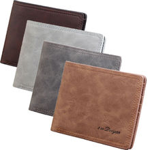 цены Business Men Billfold Slim Bifold Purse Wallet Credit ID Card Holder Slim Black PU Leather Wallet Purse Clutch