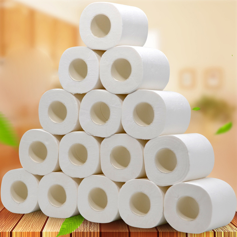 1Pcs Toilet Paper Tissue Rolling Paper 4-Ply Toilet Roll Paper Thick Soft White Toilet Paper Skin-friendly Paper Towels Tissue