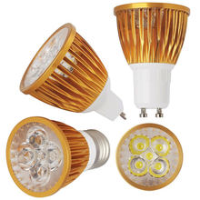 Foco LED BulbGU10 E27 E14 lámpara de luz LED regulable MR16 DC 12V 220V 110V 9W 12W 15W lámpara cálida/fría/Neutral blanca(China)