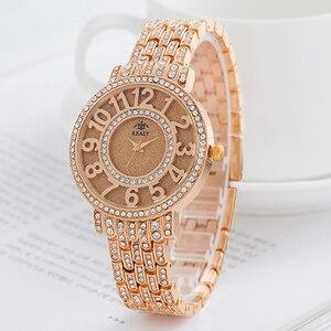 Image 2 - SUNKTA New Arrivals Women Watches Stainless Steel Exquisite Watch Women Rhinestone Luxury Casual Quartz Watch Relojes Mujer