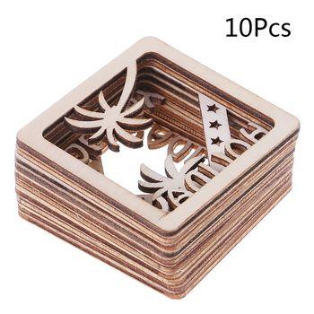 10 sztuk wyciąć drewniana ramka na zdjęcia Shapd zdobienie drewniany kształt Craft Wedding Decor hurtowni tanie i dobre opinie Plac CN (pochodzenie) 911056033 Drewna 10 opakowań CLASSIC