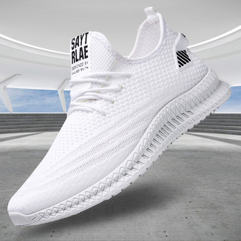 Spring New Men Shoes Sneakers White 2020 Fashion Flat Casual Shoes for Men Mesh Breathable Walking Shoes Sneaker Wholesale Tenis