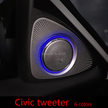 Suitable for 10th generation Civic door speaker upgrade 3D tweeter rotating atmosphere light modification