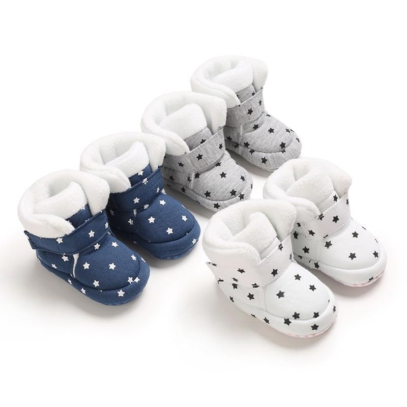 Quente da criança recém-nascidos botas de inverno primeiros caminhantes do bebê meninas meninos sapatos macio botas de neve para 0-18m