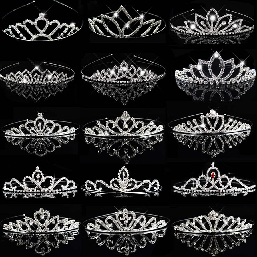 Princess Bride Crown Bridal <font><b>Hair</b></font> <font><b>Accessories</b></font> <font><b>for</b></font> Women Girls Crystal Headband <font><b>Wedding</b></font> <font><b>Hair</b></font> Jewelry ornaments <font><b>Headpiece</b></font> Headdress image