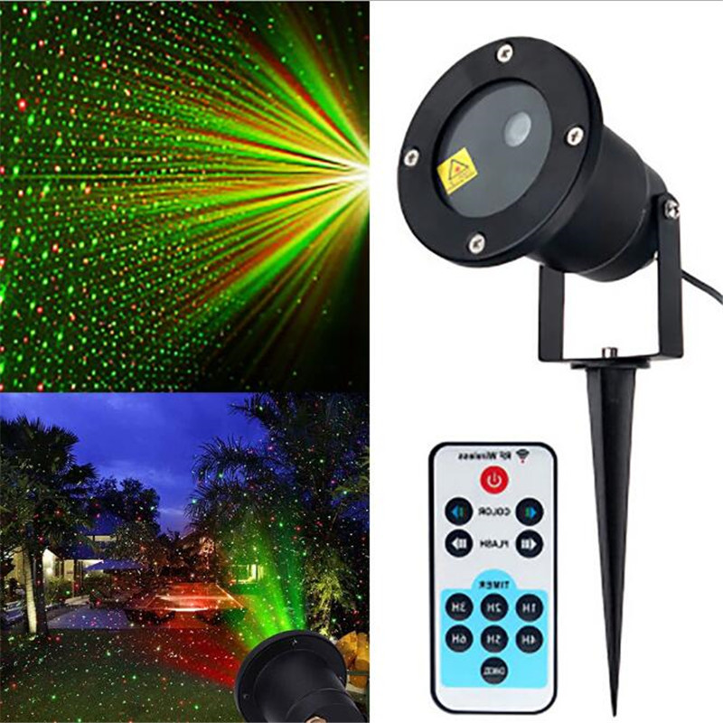 Red /Green Laser Light Starry Outdoor Waterproof Laser Light Christmas Dynamic Projection  Garden Light