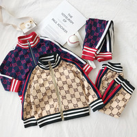 Fashion Kids Boy Girl Clothes Sportswear autumn Baby Colorful Hoodies 2Pcs/sets Children Outfit Toddler Cotton Tracksuti