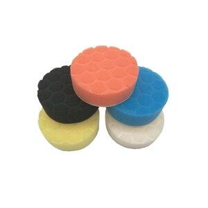 Image 3 - 5pcs Car Polishing Disc Self Adhesive Buffing Waxing Pad Muti color Sponge For Car Polisher Drill Adapter