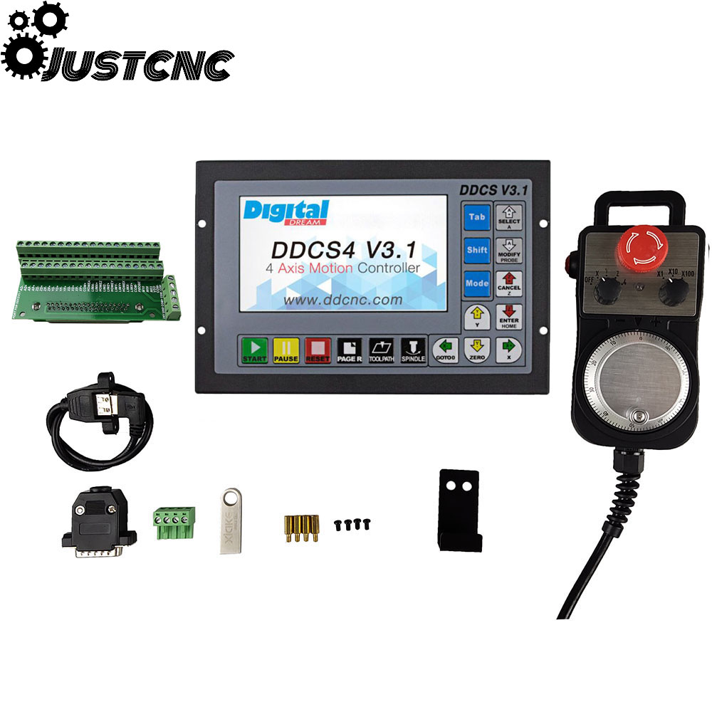 Special Offer DDCSV3.1motion Control System Set 3-axis 4-axis Cnc Controller, Emergency Stop Electronic Handwheel Support G Code