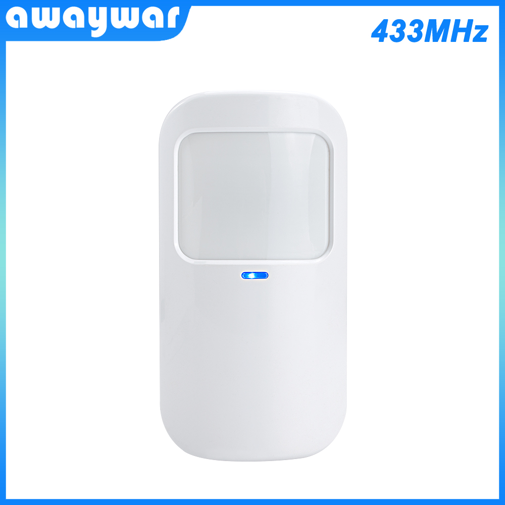 Awaywar Wireless Motion PIR Detector 433MHz Movement Sensor With Battery For Wifi GSM Home Security   Alarm System Burglar