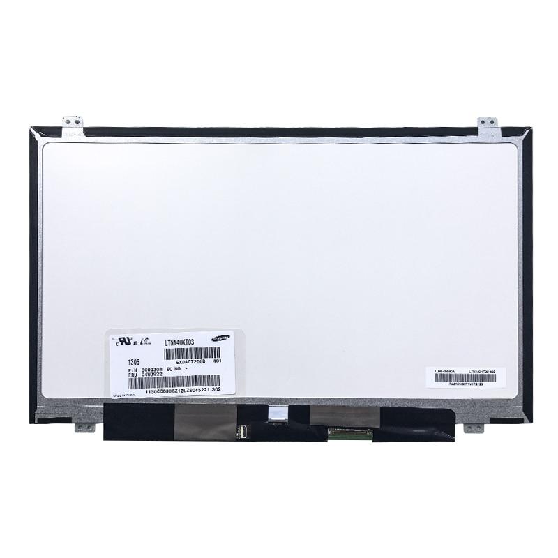 14.0'' Laptop Lcd Screen 1600*900 40pin HD+ B140RW02 V.1 B140RTN03.1 LP140WD2 (TL)(B1) LTN140KT03 For Thinkpad  T420 T430